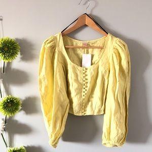 HP ***H&M | Puffy linen blouse